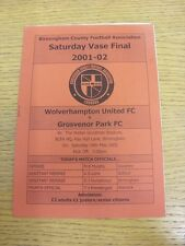 18/05/2002 vaso di Birmingham finale: Wolverhampton United V Grosvenor Park [a Ray