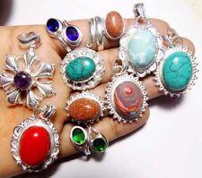 10 PCS WHOLESALE LOT 925 STERLING SILVER OVERLAY MIX Modern jewelry