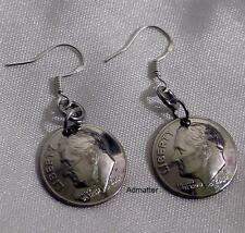 1999 18th BIRTHDAY DOMED DIME EARRINGS 925 SILVER FRENCH HOOKS ANNIVERSARY GIFT!