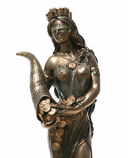 Goddess Fortune Tyche Luck Fortuna Statue Sculpture Figure Bronze Finish 7.28in