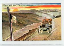 China 1907 Pekin-Paris Car Race, Dion-Bouton at Gobi Desert Post Card