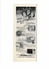 VINTAGE 1961 TOSHIBA TRANSISTOR RADIOS FAN BASEBALL BAT PORTABLE FAMILY AD PRINT
