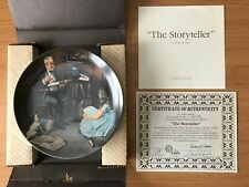 """""""The Storyteller� by Norman Rockwell Collector's Plate"""