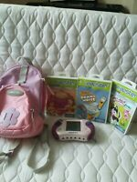 Pink LEAPSTER 2 CONSOLE Game and 3 Cartridge Carry Bag