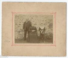 C461 Photo vintage originale Famille portrait accordéon musique instrument