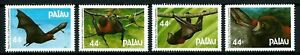 PALAU, SCOTT # 122-125, COMPLETE SET OF 4 FRUIT BATS, MINT NEVER HINGED, 1987