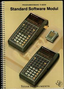 """Handbuch """"Standard Software Modul"""" für Texas Instruments Taschenrechner TI-58/59"""