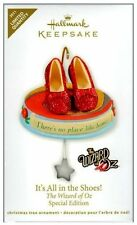 2011 Hallmark ~ Wizard Of Oz Its All In The Shoes Dorothy's Red Slipper QXE3039