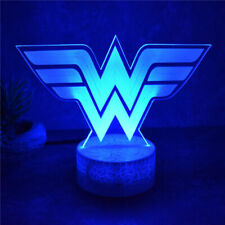 3D Lamp LED Wonder Woman Night Light Touch Table Lamp Brithday Xmas Gift 7Color