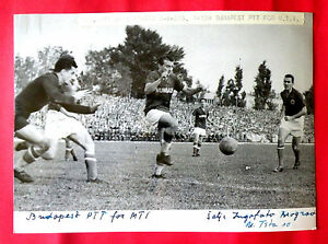 YUGOSLAVIA vs HUNGARY FOOTBALL SOCCER 1958 ZAGREB ORIGINAL VINTAG PRESS PHOTO 3