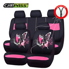Universal Car seat covers For Wamen China Face Truck Car Seat Covers Pink Airbag