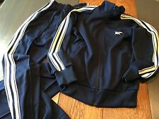 Asics Tiger Womens Medium Blue Track Jogging Workout Pant Jacket Suit Running