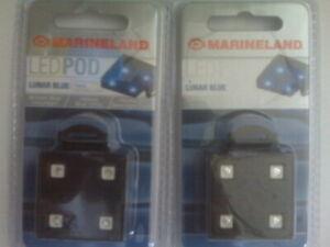 Marineland (2) Lunar Blue LED PODs for Marinelands Advanced LED Light