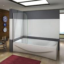 Aica 180?Pivot Safety Glass Over Bath Shower Door Panel Screen 800x1400mm