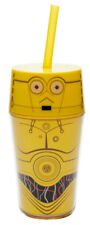 NEW ZAK! C-3PO INSULATED TUMBLER 14 OZ. w/straw and lid star wars droid cup mug