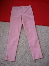 $750 Gucci Made in Italy Womens Dress Pants Leather Bow Pink Size 40 Mint Cond