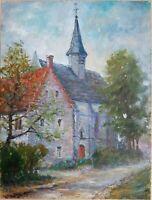 Tableau COCKX Philibert (1879 - 1949) Gouache sur papier Paysage Impressionniste