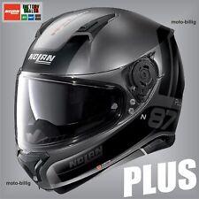 Nolan Motorradhelm N87 PLUS N-COM 21 Distinctive grau Matt M 58-59 Integralhelm