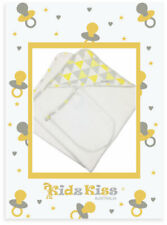 3 Sets Kidz Kiss Velour Hooded Towel With Mitt/bag/washcloth Triangle / Yellow