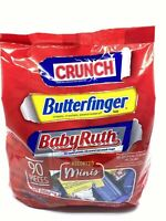 Assorted Mini Chocolate Candy Bars Variety Pack Including Crunch Butterfinger