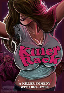 KILLER RACK Movie Poster Sticker (sales donated to breast cancer research)