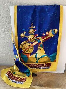 1998 Disneyland Tomorrowland Logo Cast Member Disney Opening Scarf Uniform