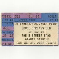 BRUCE SPRINGSTEEN Concert Ticket Stub E RUTHERFORD NJ 8/31/03 GIANTS THE RISING