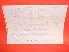 1974 DODGE CHALLENGER RALLYE DART SPORT 360 SWINGER COUPE FRAME DIMENSION CHART