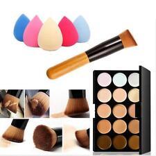 15 Color Concealer Palette   Wooden Handle Brush   Makeup Concealers Face Powder