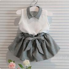 2PCS Toddler Kids Baby Girl Outfits T-shirt Top + Pants Shorts Clothes Set