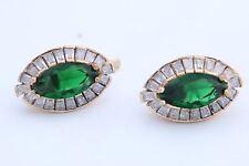 925 Sterling Silver Turkish Jewelry Emerald Baguette Topaz Marquise Cut EarRings