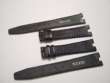 MENS NEW GUCCI 4500M LEATHER WATCH STRAP, BLACK or BROWN LIZARD 18MM