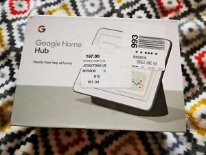 Google Home Hub - GB Anthracite - BNIB