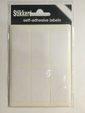 White Small Sticky Labels 25 X 50mm Stickers Tags Blank Self Adhesive