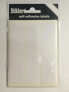 White Small Sticky Labels 25 x 50mm Price Stickers Tags Blank Self Adhesive
