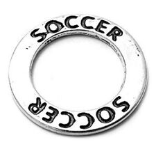 925 Sterling Silver Soccer Ring Charm