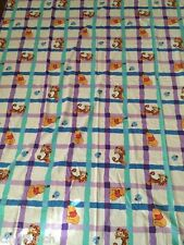 Winnie the Pooh Tigger Lady Bug Twin Flat Sheet Or Fabric Blue Purple