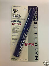 MAYBELLINE FULL 'N SOFT MASCARA ( VERY BLACK ) CURVED BRUSH Thick + Healthy NEW.