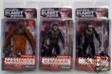 """Dawn of the Planet of the Apes 7"""" inch Scale Figures Set of 3 Series 1 Neca 2014"""