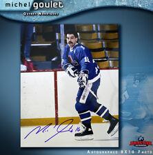 Michel Goulet Signed Quebec Nordiques 8 X 10 -70501