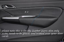 Azul Costura encaja Honda Civic Type R 06-11 2x Frontal Puerta Tarjeta Trim Lthr cubre