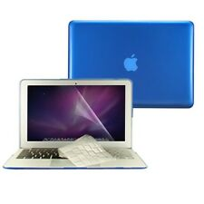 "3 in1 Crystal ROYAL BLUE Case for Macbook Air 13"" A1369 + Key Cover + LCD Screen"