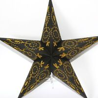 Estrella Papel Navidad de Luz Lámpara Plegable Negro 54