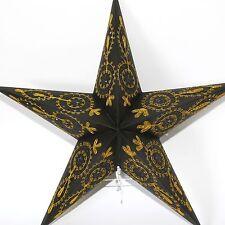 Stern Papierstern Weihnachtsstern Leuchtstern Lampe Papier Faltstern Schwarz 54