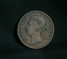 1 Cent 1901 Straits Settlements World Coin KM16 Malaysia Queen Victoria Malay
