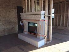 Fireplace mantel and hearth