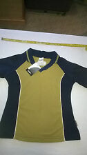 Womans Langer V Neck Polo Shirt, New with Tags, Size 10, Cotton / Elastane