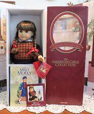American Girl Doll Pleasant Company Molly  In Maroon Box Book & Glasses (B)