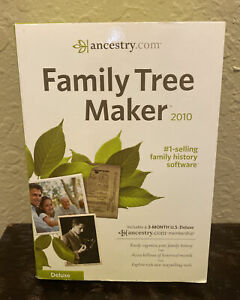 Ancestry.com Family Tree Maker 2010 Deluxe Version  New Sealed
