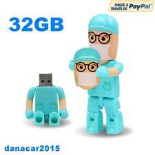 PEN DRIVE PENDRIVE DE UN MEDICO DENTISTA CIRUJANO 32GB 32 GB MEMORIA USB(16 64)